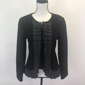 A. Giannetti Boiled Wool Ruffle Sweater M
